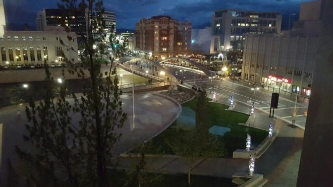 virginia st bridge night