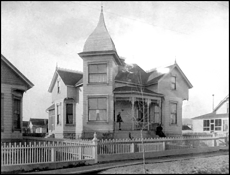 The Folsom/Atcheson house its early days (photographer unknown)